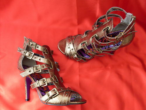 Ladies NEXT gold High Heel Gladiator Sandal size 6