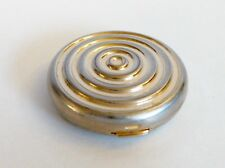 Estee Lauder Swirl Powder Compact Gold Silver Concentric Rings Part Full Puff