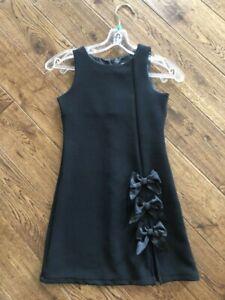 Sweet-Heart-Rose-Sleeveless-Black-Dress-Size-8-Super-Cute-Excellent