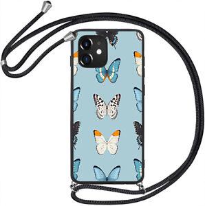 TPU Hülle mit Band Handy Kette Kordel Silikon Case Tasche Cover Bumper #KBX362