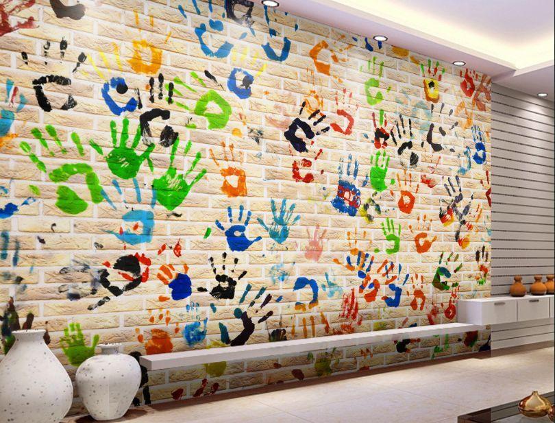 3D Palm stampa Parete Murale Foto Carta da parati immagine sfondo muro stampa