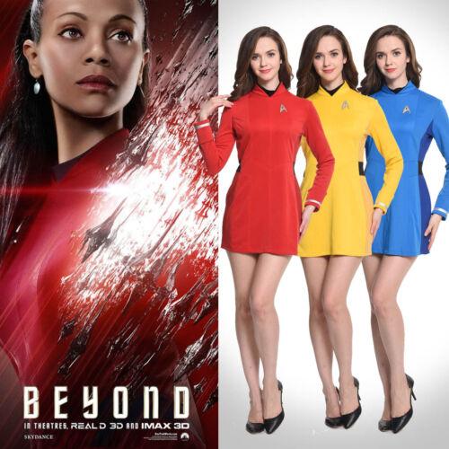 Star Trek Beyond Nyota Uhurae Dress Uniform Cosplay Costume Halloween Party