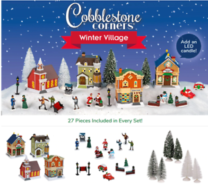2020 Cobblestone Village Christmas Cobblestone Corners Christmas 2020 Winter Village ~ 27 Piece Set