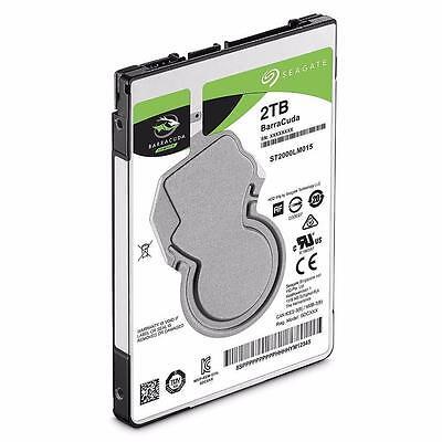 "Seagate BarraCuda ST2000LM015 2TB (2000GB) 2.5"" SATA Internal Hard Drive for PS4"