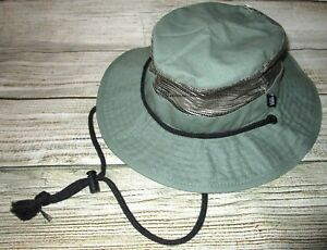 e9415be2ec8dc Image is loading MENS-VANS-GREEN-BOONIE-BUCKET-HAT-SIZE-S-M