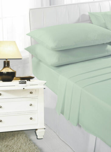 Plain Dyed Easy Care Super Soft Cotton Rich Extra Deep Fitted Sheets 40cms Depth