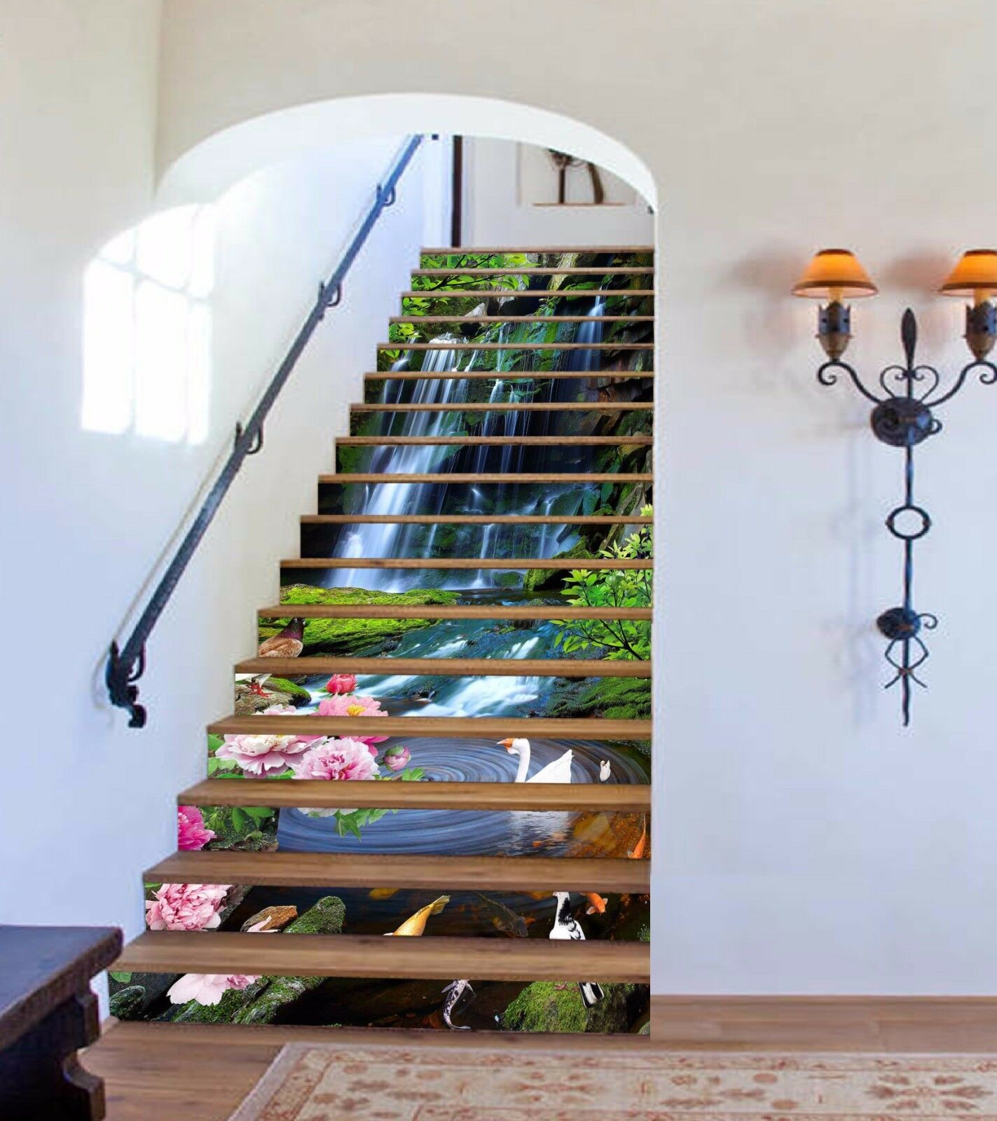 3D Falls Birds 713 Stair Risers Decoration Photo Mural Vinyl Decal WandPapier AU