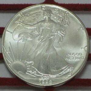 1992 American Silver Eagle 1 Oz Silver Uncirculated Coin