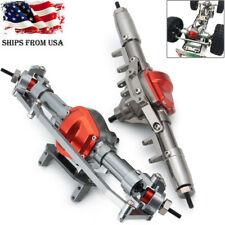 CNC Metal Alloy Front & Rear Axle Set for 1/10 RC Rock Crawler Axial Scx10 US