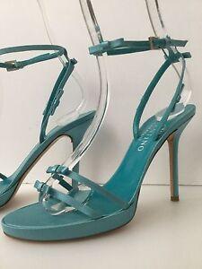 medio Worn alla Once 1 turchese 2 cinturino e tacco con caviglia 38 in raso Valentino Taglia Sandali wY4qUCx