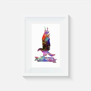 Ravenclaw Harry Potter Watercolor Poster Home Decor Wall Art Print Ebay