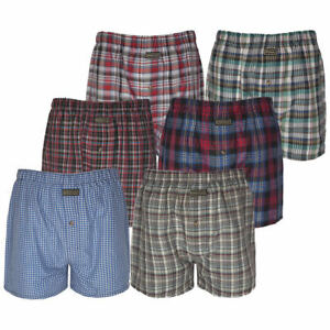 Men-039-s-Check-Boxer-Trunks-Slips-Short-Pants-Slips-Sous-vetements-S-M-L-6-pack