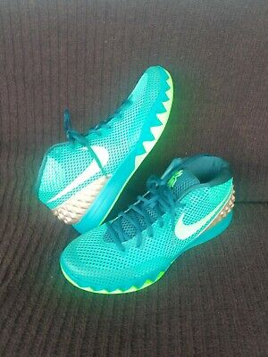 competitive price aa3d6 2cddb NIKE KYRIE IRVING 1 AUSTRALIA TEAL EMERALD 705277 333 SIZE 11 888409727274  | eBay