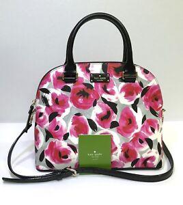 Kate Spade * Carli Handbag WKRU4260 Grove Street Printed Rose Bed COD PayPal