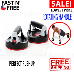 Perfect Push Up Rotating Handles Pair Non-Slip Comfortable Fitness Workout Grips