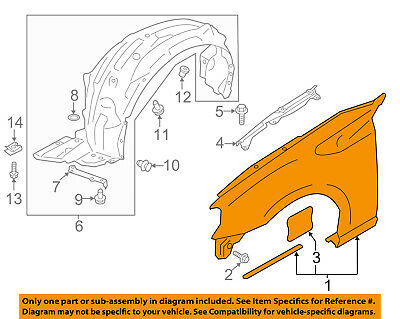 NEW FRONT LEFT FENDER FOR 2003-2005 SUBARU FORESTER SU1240123