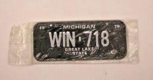 Post Cereal Mini Bicycle Michigan License Plate