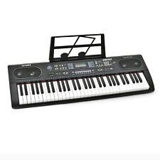 Plixio 61 Key Electronic Keyboard Piano With LED Display Stereo USB Input- PO