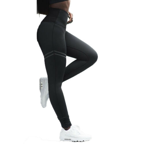Damen Fitnesshose Yogahose Stretch Tights Sport Leggings Jogginghose mode Hosen