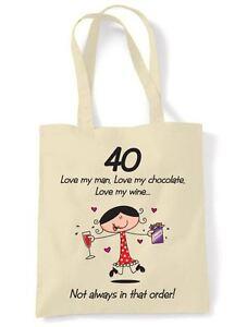 LOVE-MY-MAN-LOVE-MY-CHOCOLATE-40TH-BIRTHDAY-SHOULDER-BAG-Gift-Present