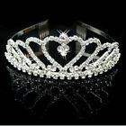 Bridal Rhinestone Crystal Headband Crown Comb Tiara Wedding Prom Pageant Jewelry