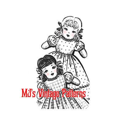 Vintage Upside Down Topsy Turvy Doll Pattern ~ Sweet Girls