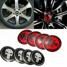 4pcs Car Emblem Decals For Punisher Skull Wheel Center Hub Cover Caps Stickers