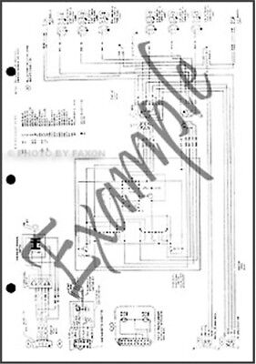 1984 Ford Full Size Bronco Foldout Wiring Diagram Electrical Schematic Original Ebay