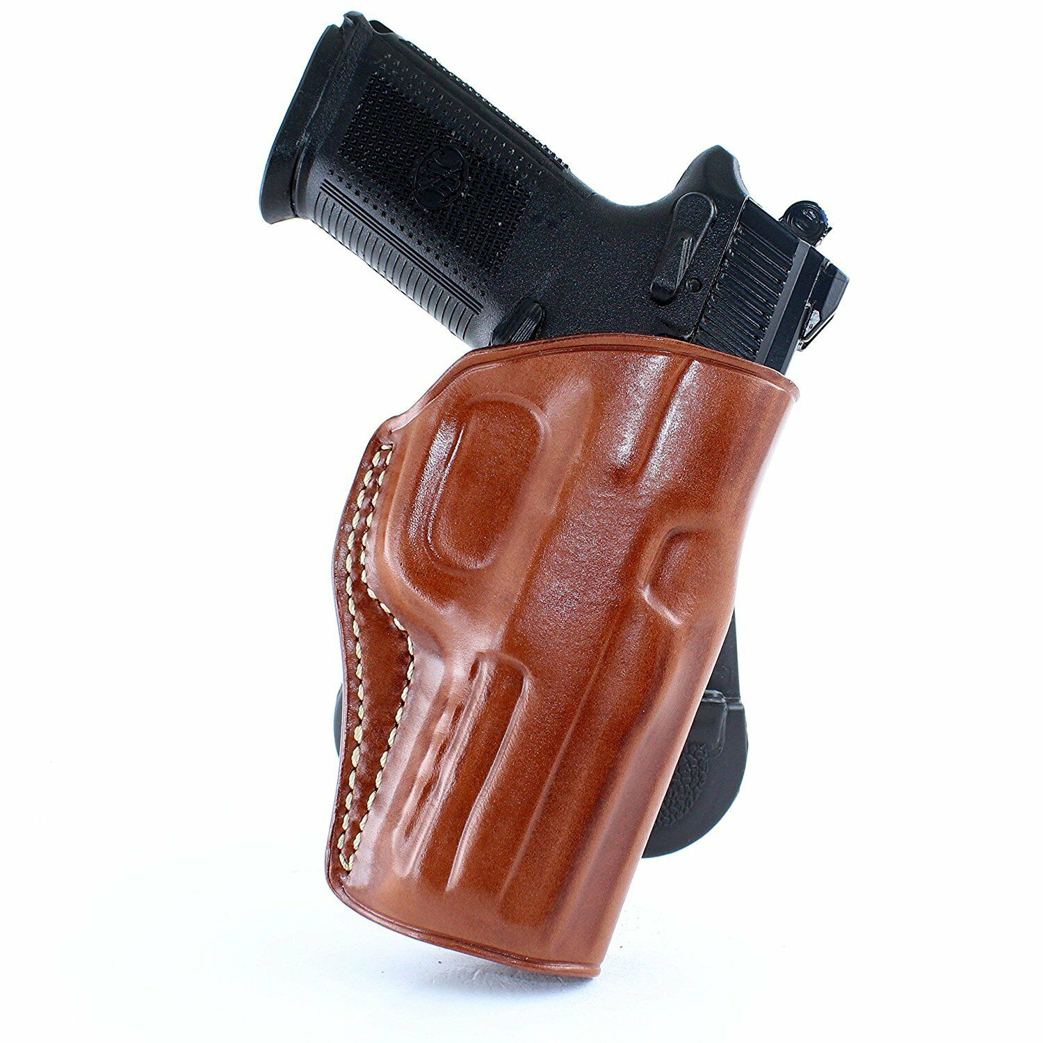 LEATHER PADDLE HOLSTER OWB FOR FNH 5-7 FNH&FNS 9/40 FNX 9 40 45 FN P9 R/H