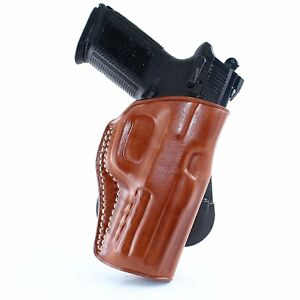Details about Premium Leather OWB Paddle Holster FNH 5-7 FNH&FNS 9/40 FNX 9  40 45 FN P9 R/H
