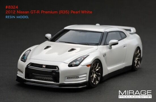 LIMITED EDITION LHD LHD LHD  HPI Nissan R35 GT-R PREMIUM Pearl White 1 43 Model 4d395f