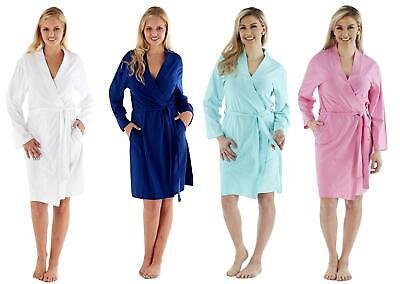 GroßZüGig Ladies Soft Jersey Kimono Wrap Cotton Dressing Gown Summer Bath Robe House Coat