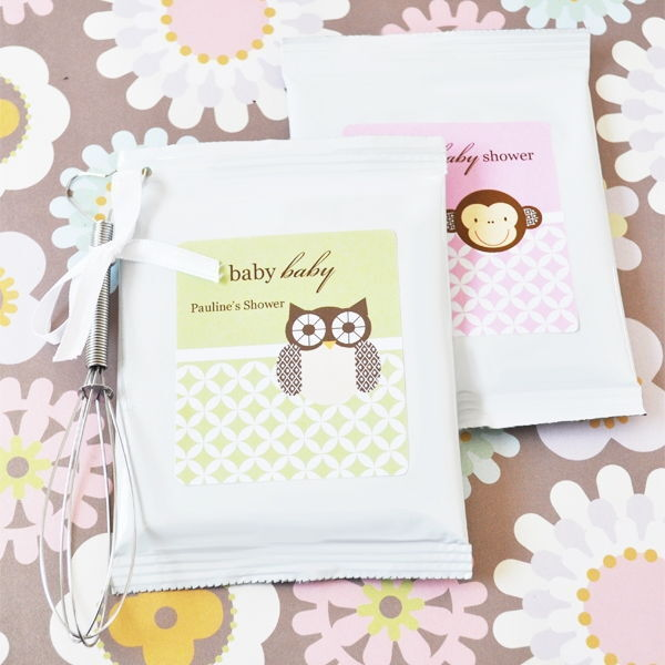 48 Personalized Baby Animal Theme Lemonade Mix Pouches Baby Shower Favors