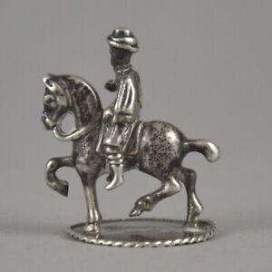 Figurine-de-chevalier-en-argent-massif-de-Pays-Bas-Dutch-silver-horse-rider