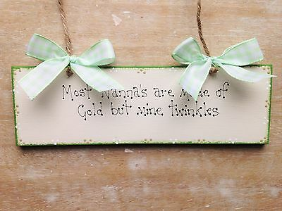 Wooden Shabby Chic Plaques Sentimental Quote Signs Gift Wife Grandma Nana Gran