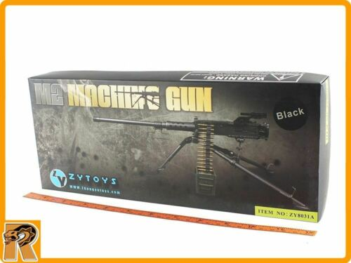US Browning M2 Machine Gun Set Noir -1//6 scale-New in Box ZY Toys figures
