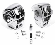 Chrom Schaltergehäuse für Harley Touring Sportster 96-06 Radio + Tempomat