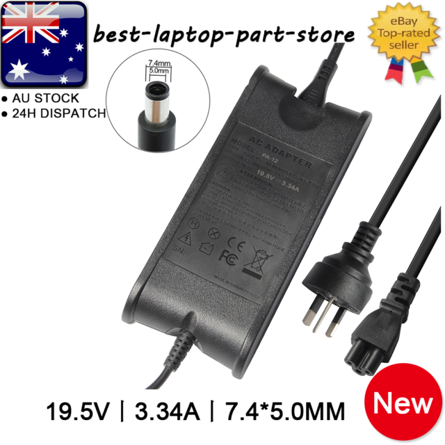 For Dell 65W Laptop AC Adapter Charger 19.5V 3.34A LA65NM130 JNKWD