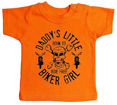 """Vestiti Bambina (0-24 Mesi) Infanzia E Premaman Baby Motociclisti T-shirt """" Daddy's Piccolo Biker Ragazza """" Moto Figli Anarchia"""