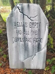 Hell-is-Authentic-Handmade-Halloween-Tombstone-Prop-Halloween-Decor-Yard-Art