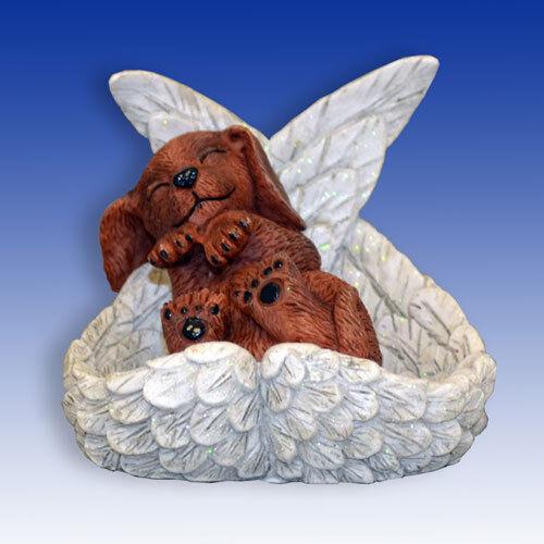 Dachshund Precious Paw Prints Dog in Angel Wings Figurine Bradford Exchange