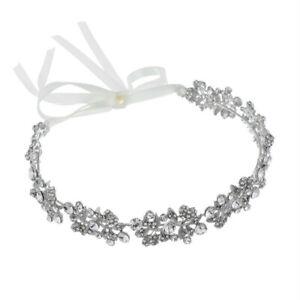 Crystal-Rhinestone-Bridal-Headpieces-Ribbon-Wedding-Brides-Tiaras-Crown-Headb-OZ
