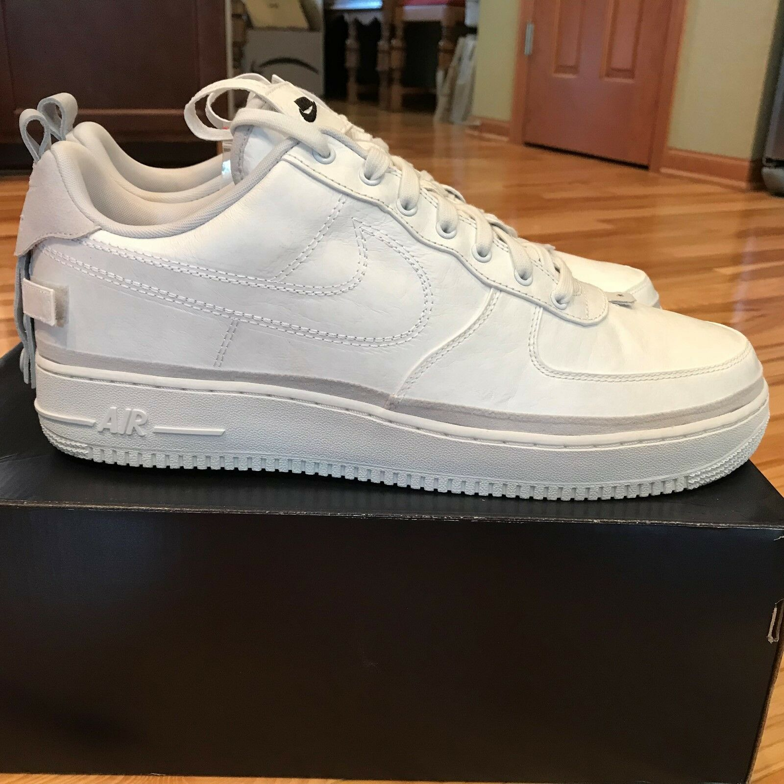 NIKE AIR FORCE 1 '07 AS QS LOW ALL STAR 90 10 VAST GREY WHITE AH6767-001 SIZE 14