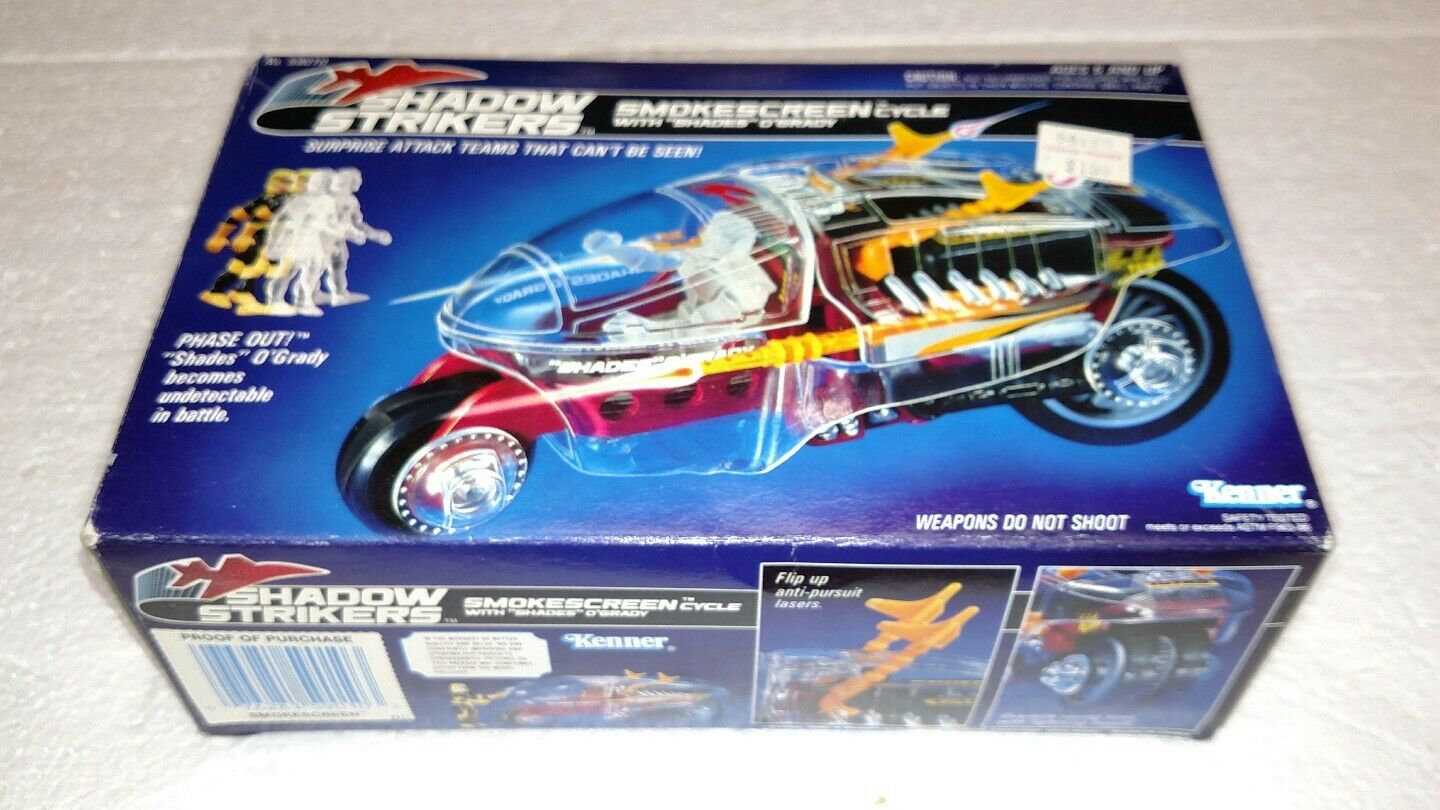 1990 KENNER SHADOW STRIKERS SMOKESCREEN CYCLE WITH SHADES O GRADY