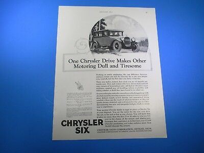 Advertising Methodical Vintage January 1926 Chrysler Six Phaeton B&w Print Advertising Pa21 An Indispensable Sovereign Remedy For Home