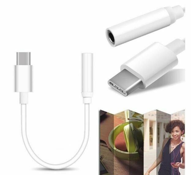 USB 3.1 Type-C to 3.5mm AUX Stereo Audio Jack Female Adapter Converter Cable Mel