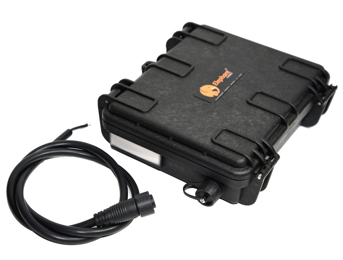 Elephant B20 Waterproof Battery Case box for Kayak boats Fish finder GPS Lights