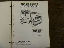 Dynapac Cc10 Series 2 Vibratory Compactor Asphalt Roller Parts Catalog Manual