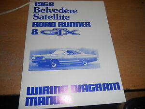 1968 Plymouth Road Runner Gtx Belvedere Belvedere Wiring Manual Ebay