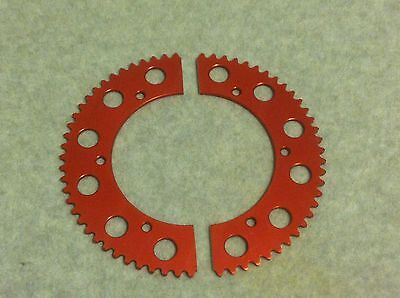 54 Tooth Go Kart Sprocket #35 Chain 54 Tooth Gear Drift Trike 2 Piece
